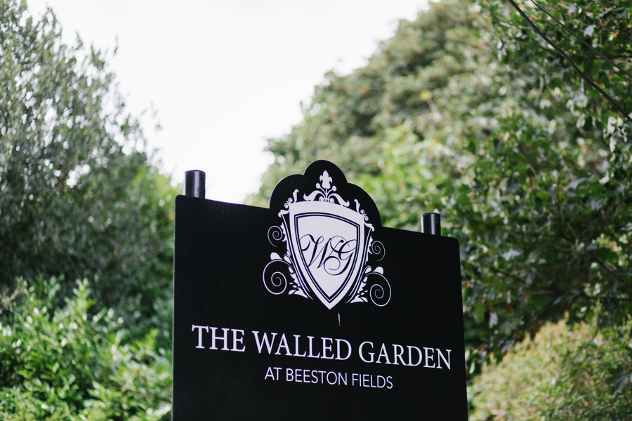 Signage for the Beeston fields Walled Garden near Nottingham