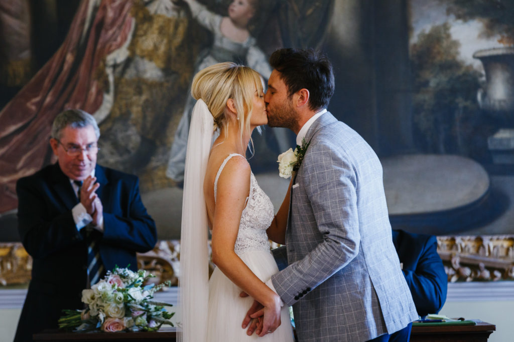 Bride & Grooms first kiss