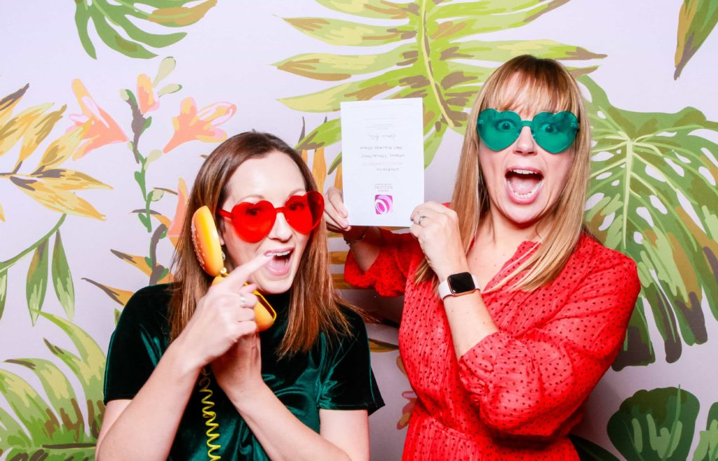 Emily & Katy using LUXBOOTH Photo Booth props